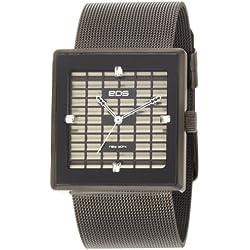EOS New York Damen 303SBLK Petra Stainless Steel Mesh Black Armbanduhr