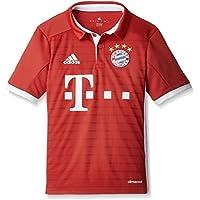 adidas H Jsy Y Camiseta 1º Equipación del Bayern Fc, Niños, Rojo / Blanco, 13-14 años