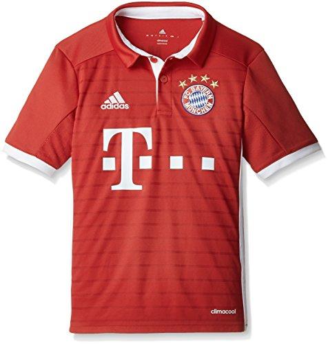 dce009008ae74 adidas FCB H JSY Y Camiseta 1º Equipación del Bayern FC, niño, Rojo/Blanco,  15-16 años