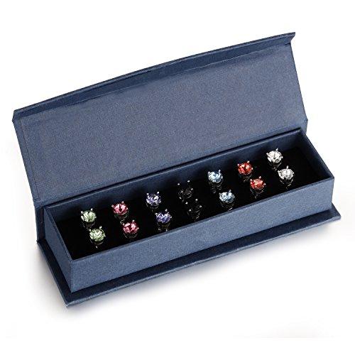 coffret-de-sept-paires-de-boucles-d-oreilles-serties-de-cristaux-swarovski-element-neuf