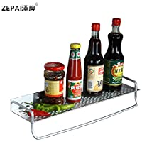 In alluminio solido a spazio singolo strato di rackLe stanze da bagno sono completamente accessoriate in cucina il vassoioBayRack di aromatizzanti,40cm