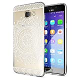 Samsung Galaxy A5 2016 Coque Protection de NALIA, Housse Motif Silicone Portable Premium Case Cover Transparente, Ultra-Fine Souple Gel Slim Bumper Etui pour A5-16, Designs:Circle Flowers