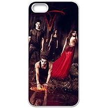 Vampire Diaries Saison F4Q76F2JA coque iPhone 4 4s de couverture de cas coque 0X042Y blanc