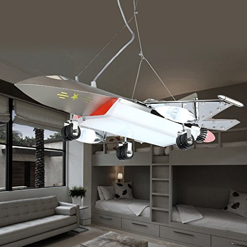 Kronleuchter Schlafzimmer Nordic moderner Stil Kronleuchter, neuer Stil Flugzeug Kronleuchter/junger kind Schlafzimmer Schlafzimmer Vergnügungspark Kronleuchter/LED-Augenschutz Cartoon Licht