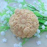 FPP palla di Natale fiore dolce decoratore muffa del sapone della torta del fondente stampo in silicone del cioccolato, attrezzi della