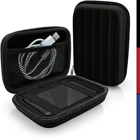 igadgitz Noir EVA Étui Housse Rigide pour Western Digital My Passport Studio & Wireless Disque Dur Externe Portable Case Cover