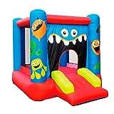 Riscko Castillo Hinchable Infantil CH16 Monster Kids de 280 x 210 x 185 cm con tobogán, Zona de Juegos y Red Protectora