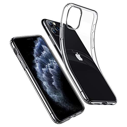ESR Funda Transparente Serie Essential Zero para iPhone 11 Pro MAX, Suave TPU Transparente, Funda Delgada de Suave Silicona para iPhone Pro MAX 6,5' (2019). Transparente.