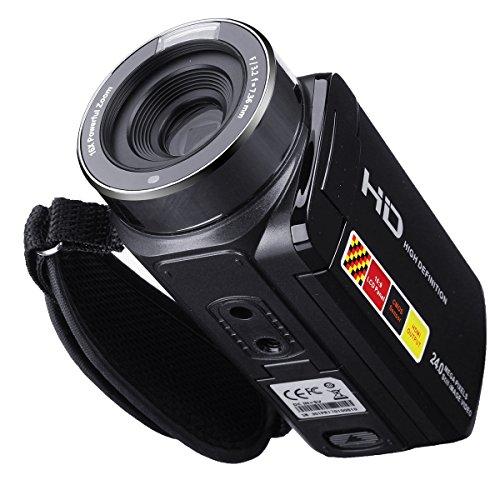 MASUNN 3,0 Zoll 1080P Fhd Video Camcorder Night-Shot 24Mp Digital Kamera mit Fernbedienung