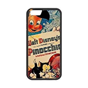 Durable Rubber Cover iPhone 6 4.7 Inch Black Cell Phone Case Kiurm Pinocchio Special Design Case