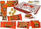 Reese - Sweet-Box - XXL Geschenkkorb   18 verschiedene amerikanische Süßigkeiten   Peanut Butter Cups in Vollmilch und weißer Schokolade   USA Reeses Sticks, Nut Bar, Pieces, Big Cup