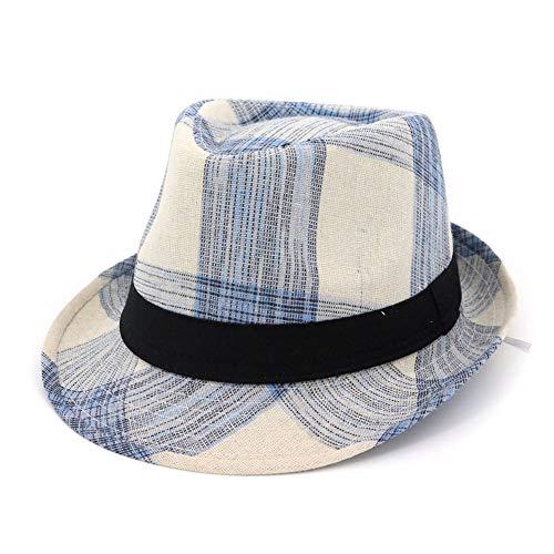 Jazzkappen Für Herren Und Damen, Sonnenschutzstrohhüte Aus Polyester,Blue