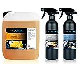 Wicoclean Autopflege Set Allzweckreiniger Orangenöl - Cockpitpflege - Reifen Glanz 6 Liter
