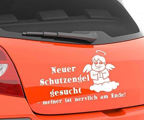 Auto Aufkleber Neuer Schutzengel gesucht DUB OEM JDM Spruch Shocker lustig 1D118, Farbe:Lavendel glanz;Breite vom Motiv:14cm
