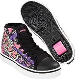 Heelys Veloz Comic Schuhe schwarz-pink Mädchen Black.White-Pink-Comic, 38