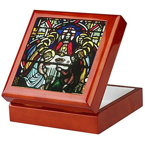 CafePress-Das letzte Abendmahl Andenken Box-Keepsake Box, fertig Hartholz Jewelry Box, Samt Gefüttert Memento Box, mahagoni, Standard - Mahagoni Gebeizt