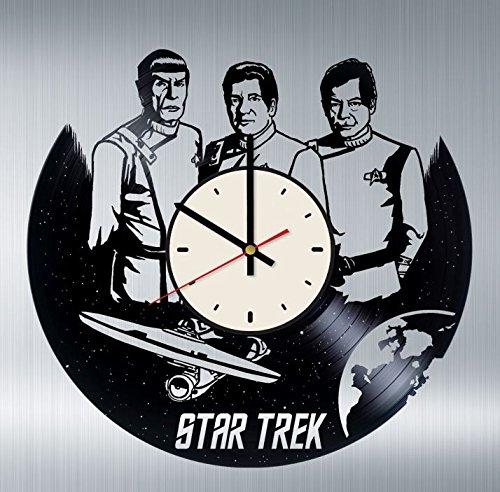 Wall Gifts Star Trek Vinyl Wanduhr Starship USS Enterprise Einzigartige Geschenke Wohnzimmer Home Decor Dame Commander