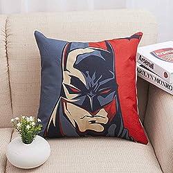 PENVEAT Funda de cojín con el logotipo de los Vengadores de Batman para silla de oficina, Capitán América, Batman