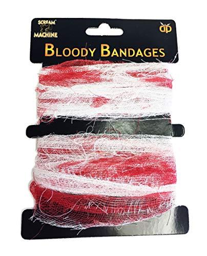 Blutig Geschlagen Bandagen Zombie Kostüm Accessoires Künstliches Blut Bandage Blutig 7m