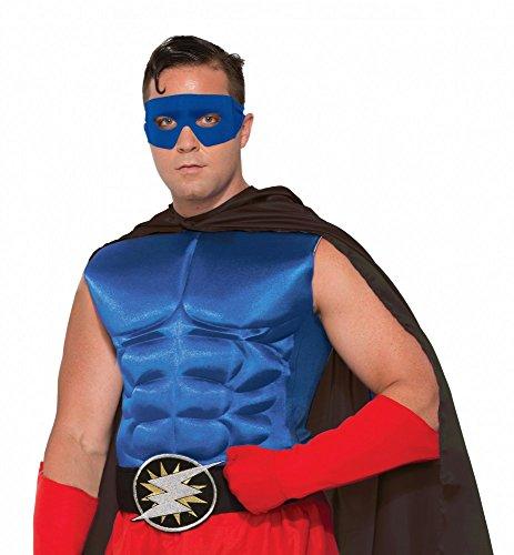 Accessoires für Superhero Herren Kostüm, Muskelshirt ()