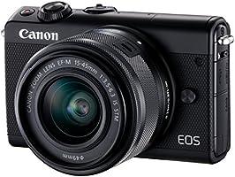 Canon EOS M100 Noir + EF-M 15-45mm Limited Edition Kit d'appareil Photo Numérique 24,2 Mpix Zoom optique 10x Bluetooth Noir
