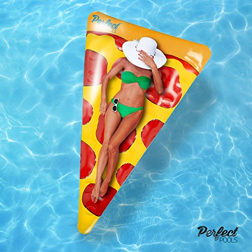 Ufficiali 'pools perfetto' gonfiabile gigante pizza slice float | piscina galleggiante 178 centimetri