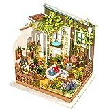 LoKauf Robotime Puppenhaus DIY Dollhouse Garten Miniature Kit DIY 3D Puzzle mit LED Licht