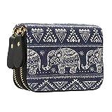 Geldtasche Damen Geldbörse mit Reißverschluss Canvas Geldbeutel klein Geldbeutel Kreditkarten - Mescara