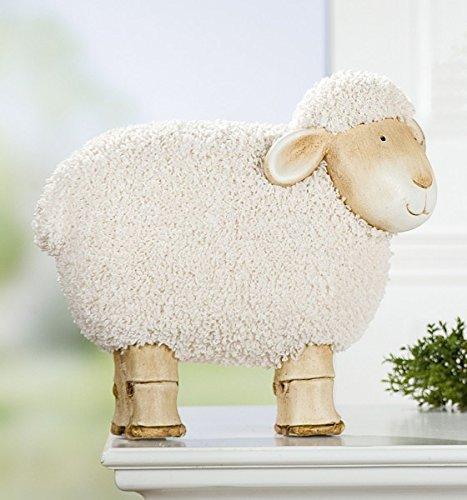 Décoration Mouton 'Lieschen', 36cm, crème