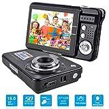 HD Mini-Digitalkamera mit 2,7-Zoll-TFT-LCD-Display, digitale Videokamera (schwarz) - Sport, Reisen, Outdoor, Camping, Geburtstagsgeschenk (Black)