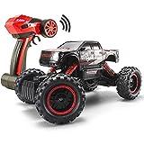 FSTgo 1/14, Crawler mit Fernbedienung, 4x4 Ferngesteuerter Geländewagen für Erwachsene, 2,4 GHz, Elektro-Rennwagen, Buggy, Truck mit LED-Scheinwerfer (Rot)