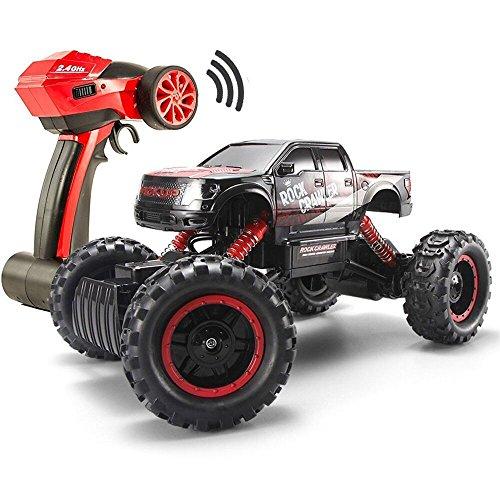 Fstgo 1/14 rc cingolato 4x4 fuoristrada radiocomandato per adulti 2.4 ghz buggy truck da corsa elettrico con fari led