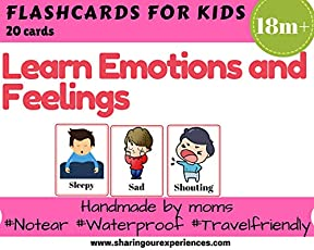 SOE Emotions and Feelings Flashcards for kids Travelfriendly Handmade by moms Flashcards Learnemotions easily with these laminated and waterproof flashcards