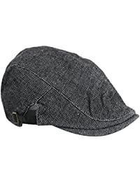 2-TECH Schwarze Schirmmütze Flatcap Gatsby Herrenmütze Sportmütze Mütze Golfermütze Irish Hunting Herren Damen Unisize