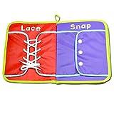 MagiDeal Baby Stoffbuch - Lernbuch Tuch Buch - Kinder Pädagogisches Spielzeug - Zipper, Schnalle, Snap, Krawatte Schnürsenkel Knoten 6 Funktionen Lernen