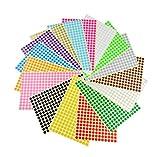 Colori codificati 8mm adesivi 5 Colori Disponibili etichette 1 foglio è 260 ADESIVI