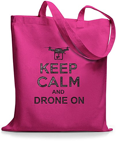 StyloBags Jutebeutel / Tasche Keep Calm and drone on Pink
