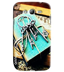 Omnam Keys printed on vintage books back cover For Samsung Galaxy Grand i9082