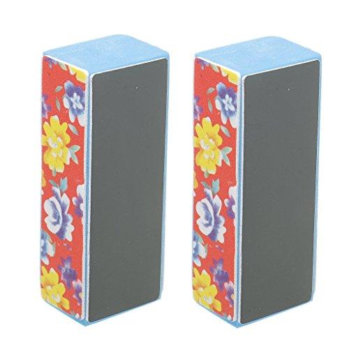 B Baosity 2 X Nail Art Shiner Buffer 4 Façons Polonais Polir Bloc Manucure Polonais Fichier
