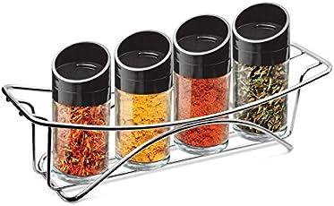 Milton TREO Seasoning Glass Jars, 100ml, Transparent (Pack of 4)