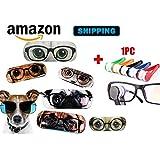 Etui à lunette original, étui à lunette rigide, chat ou chien, étui à lunette de soleil, femme, homme (Chien)