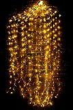 Led Lichterbündel 1M/2M Silberdraht Mirco Lichterkette Strombetrieb Deko für Innen und Außen Warmweiß gresonic (Warmweiß mit Sternen, 200 Mikro Led)