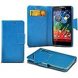 (Baby Blue) Motorola RAZR HD XT925 Super dünne Kunstleder Saugnapf Wallet Case Hülle mit Credit / Debit Card SlotsBy Spyrox