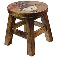 Ap Monkey Wooden Animal Stool Hand Painted Design Kids Children Stool Seat Chair