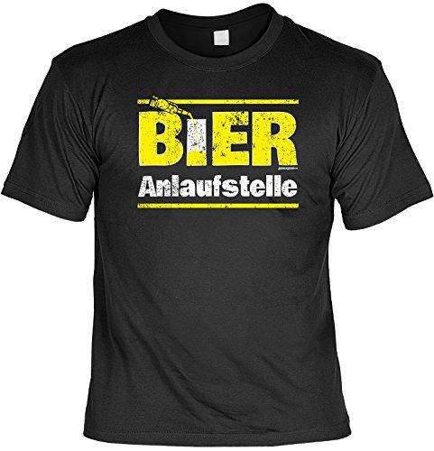 Lustiges Karneval Partyshirt / Bier Sprüche : Bier / Bier Anlaufstelle - Goodman Design - Bier Funshirt Schwarz