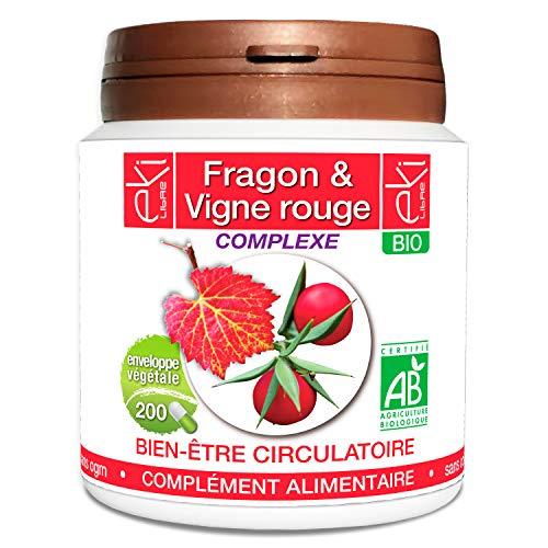 Complexe Circulation | Fragon Bio  | Vigne Rouge Bio | 200 gélules | Bien Être Circulatoire | 250...