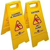 Profesional suelo mojado señal–Limpieza en progreso/precaución por suelo mojado