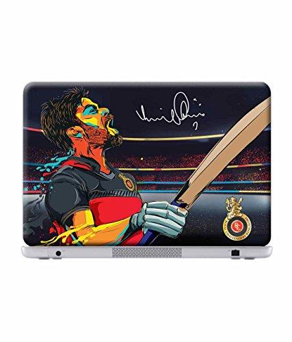 Macmerise Licensed Royal Challengers Bangalore Virat Kohli Laptop Skins For Asus F550