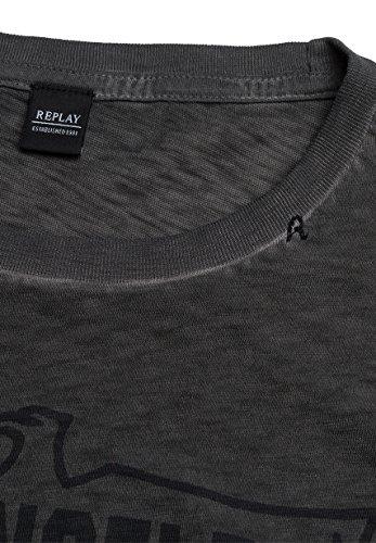 Replay Herren T-Shirt M3432 .000.22336f Anthra
