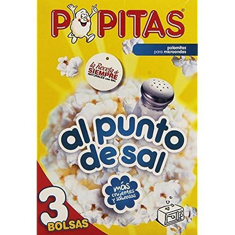 Popitas Palomitas Saladas para Microondas - Pack de 3 x 100 g - Total: 300 g